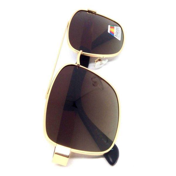 Óculos De Sol Masculino Dourado Polarizado Lova Cop Gold Dourado