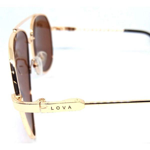 Óculos De Sol Masculino Dourado Polarizado Oct Classic Lova Dourado