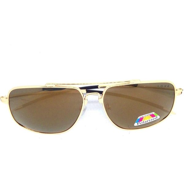 Óculos De Sol Masculino Dourado Polarizado Speed Gold Lova Dourado