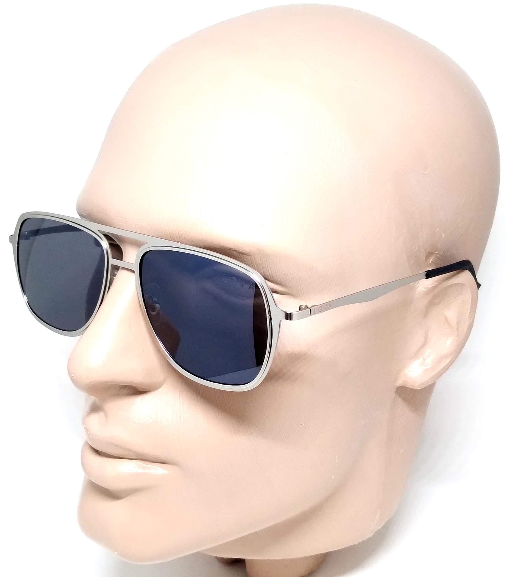 Óculos De Sol Masculino Metal Cinza Lova Clark