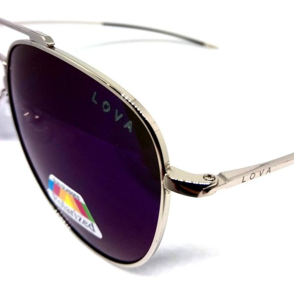Óculos De Sol Masculino Polarizado Aviador Speed Lova prata