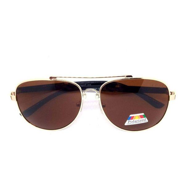 Óculos De Sol Masculino Polarizado Big Round Lova Dourado