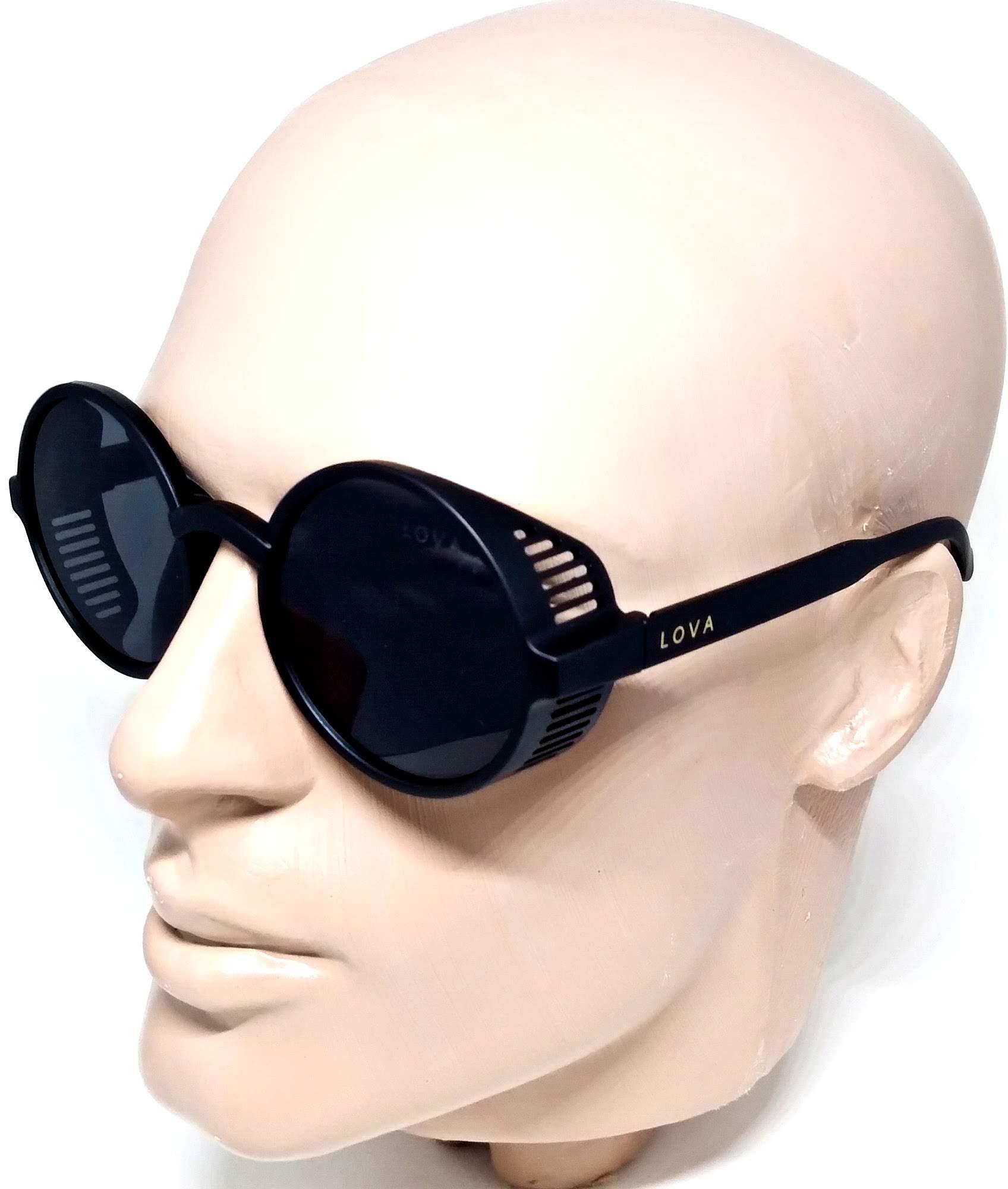 Óculos De Sol Steampunk TR90 Preto Lova John