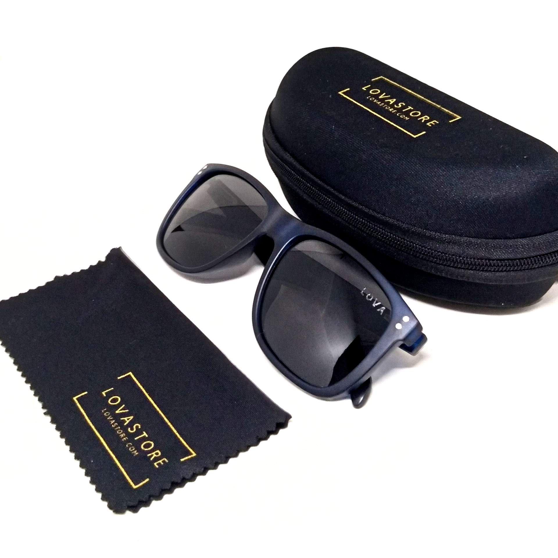 Óculos De Sol Wayfarer Polarizado Lova Azul