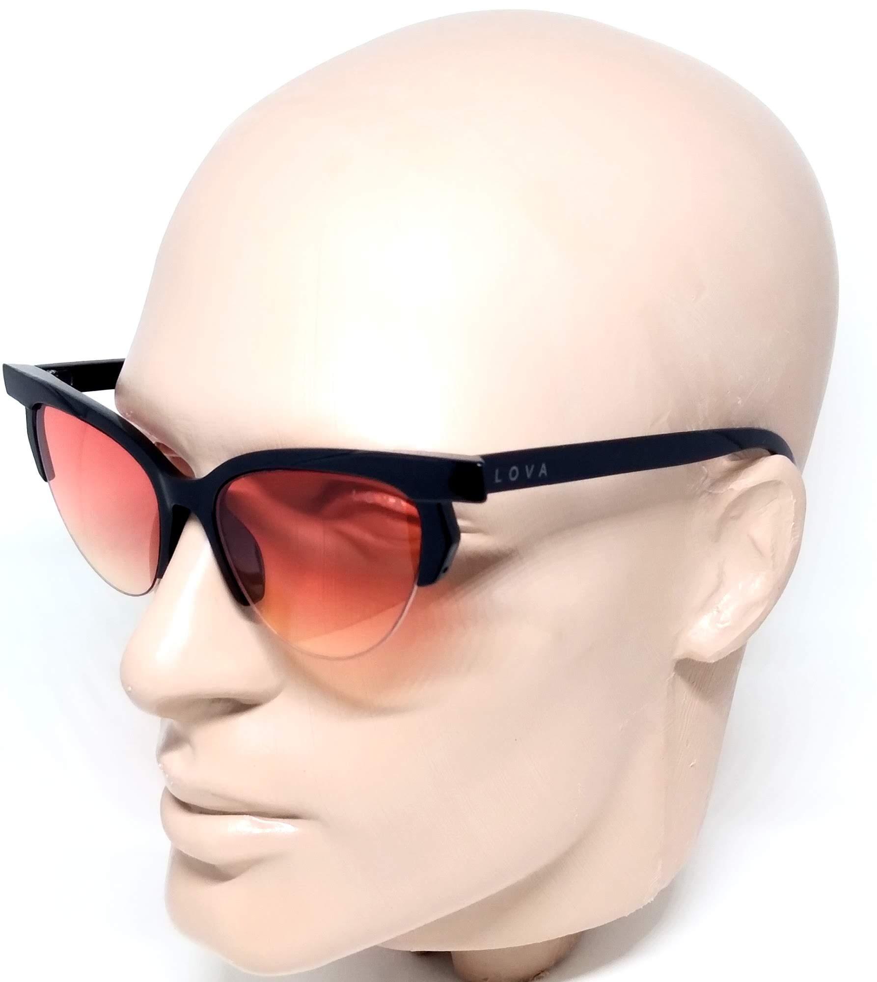 Óculos Feminino De Sol Blogstar Lova Preto Lente Vermelha