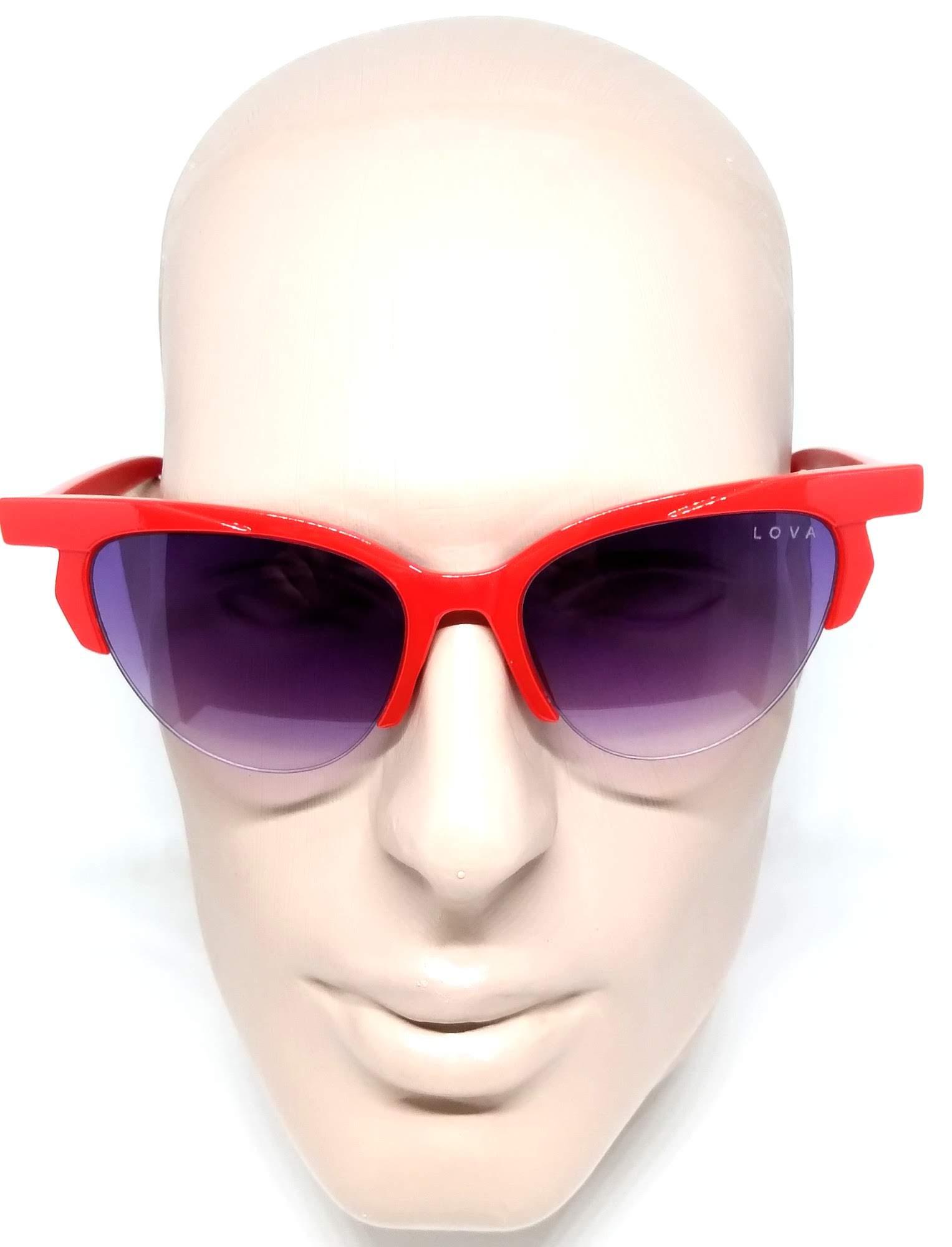 Óculos Feminino De Sol Blogstar Lova Vermelho Lentes Degradê