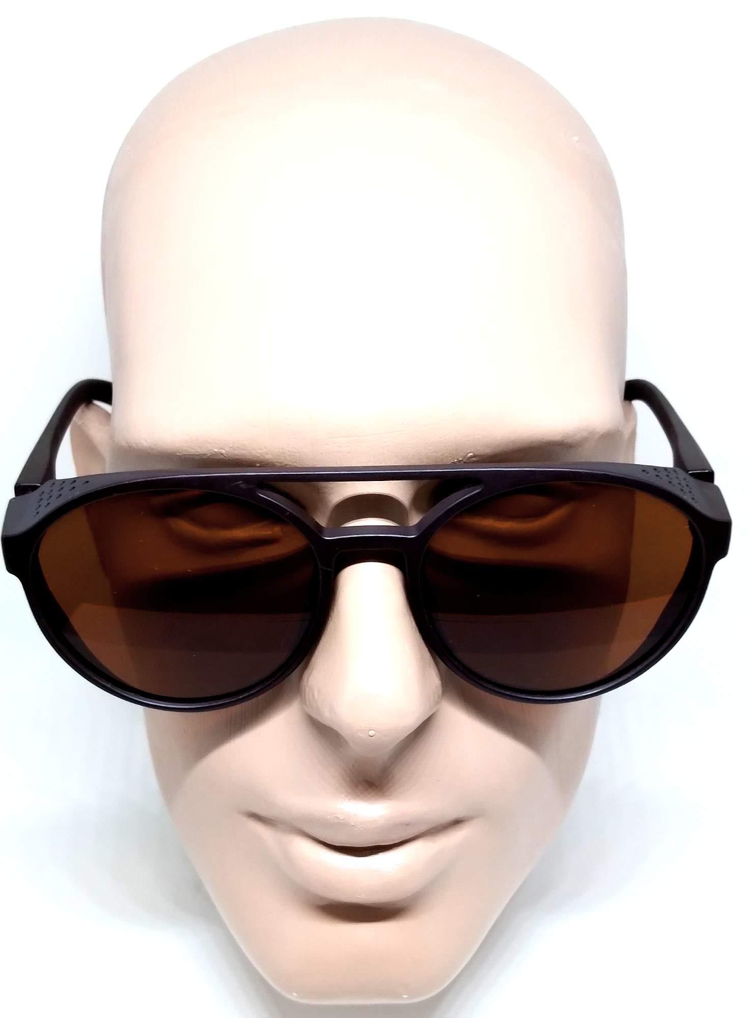 Óculos Masculino Sol Alok Redondo Steampunk Retrô Marrom