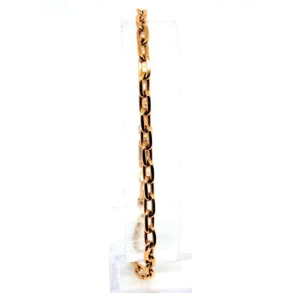 Pulseira Banhada Ouro 18k Elo Cadeado 21cm 1,5mm
