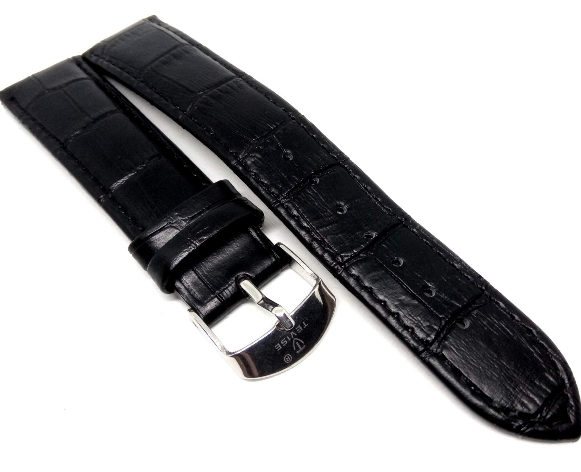 Pulseira Relógio Couro Legítimo Tevise 20mm