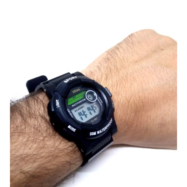 Relógio Digital A prova dagua Xinjia Preto 5atm