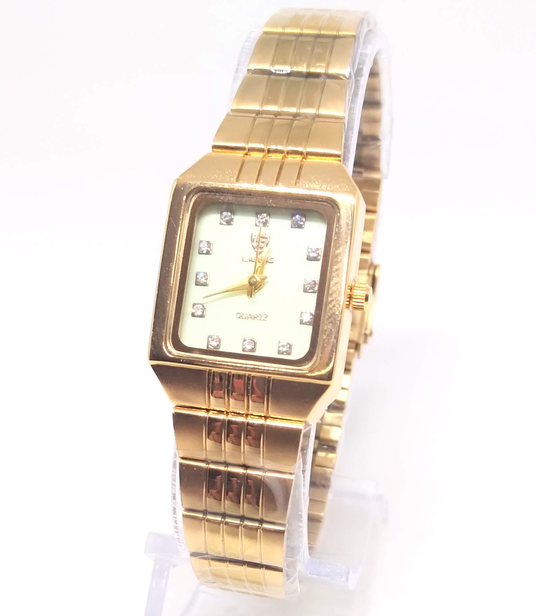 Relógio Feminino Dourado com Strass Liebig 30M
