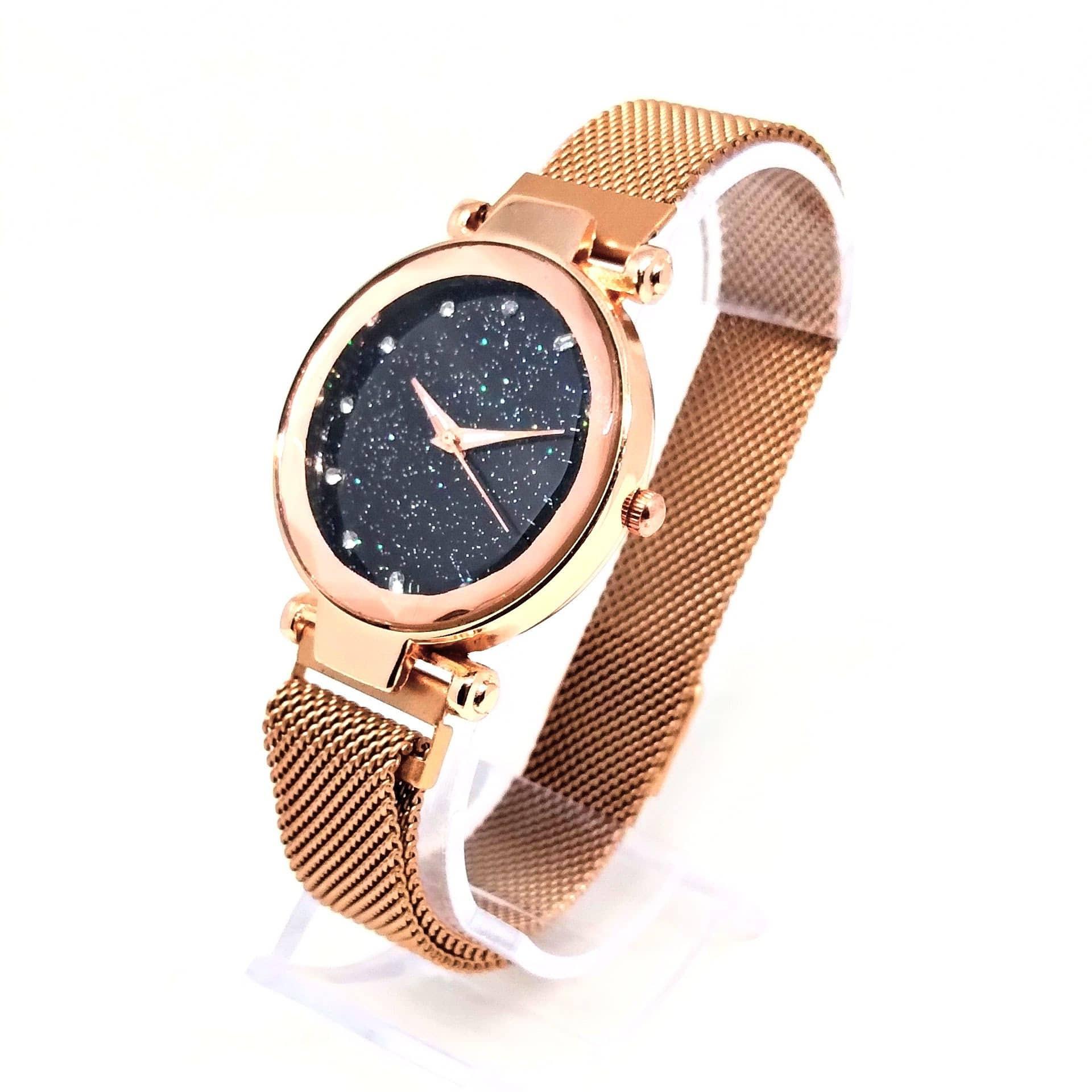 Relógio Feminino Social Strass Estrelado Luxo Lova