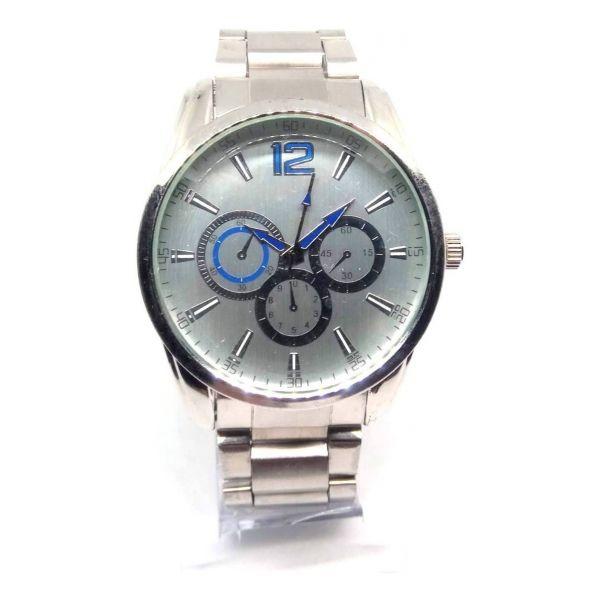 Relógio Masculino Prata Grande Classic Man Lova