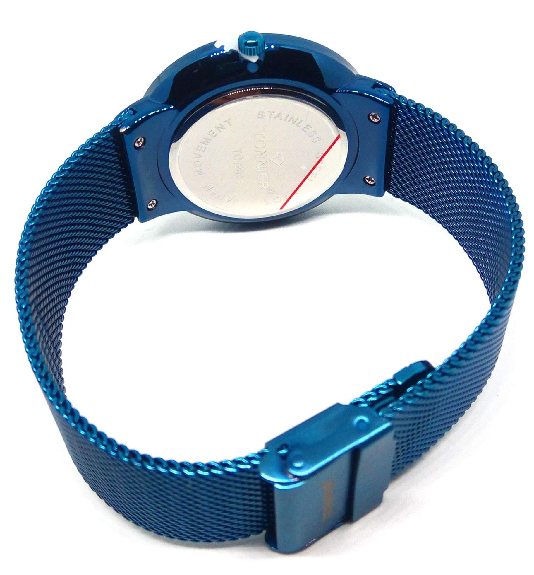 Relógio Masculino Social Azul Tonnier