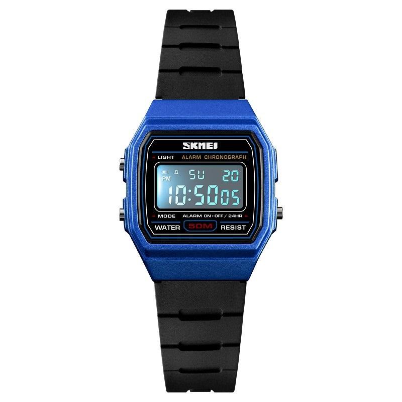 Relógio Skmei Digital 1460 Preto e Azul Infantil Masculino