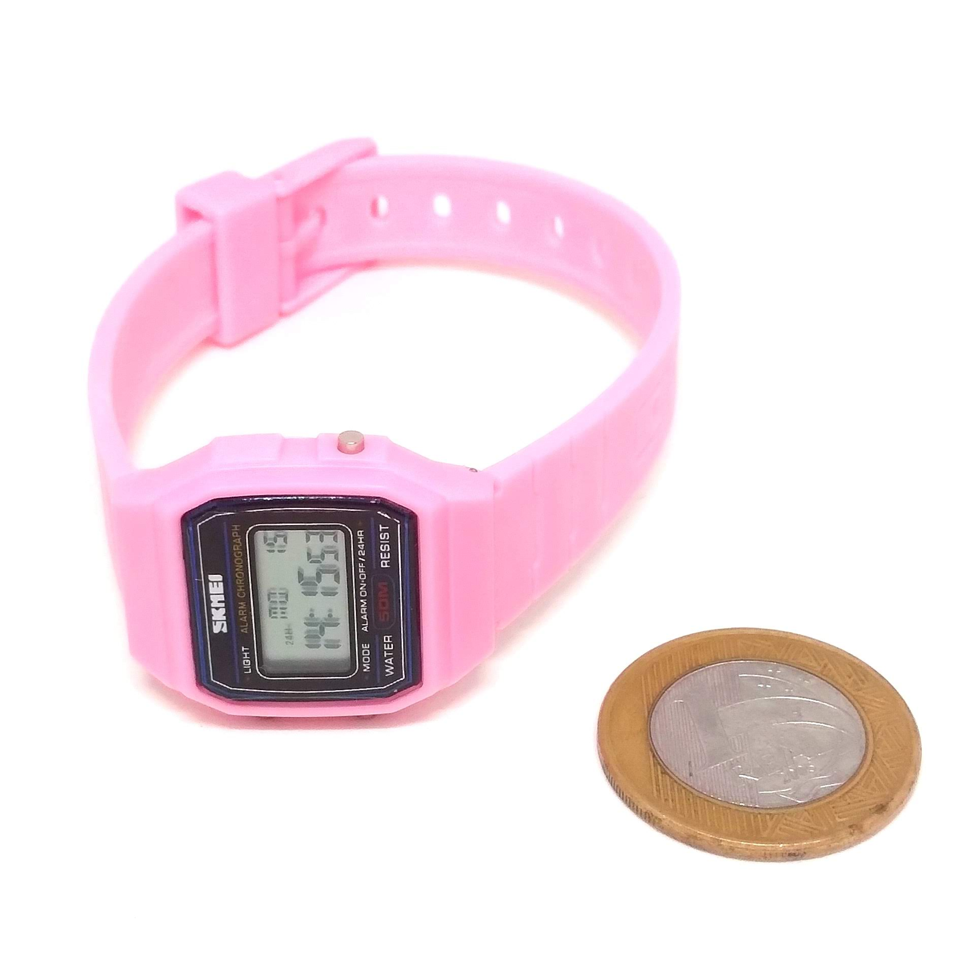 Relógio Skmei Digital 1460 Rosa Infantil Feminino