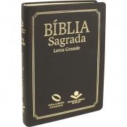 Bíblia Sagrada letra grande capa preta - ARA