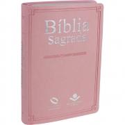 Bíblia Sagrada   NAA   Média   Capa Sintética rosa