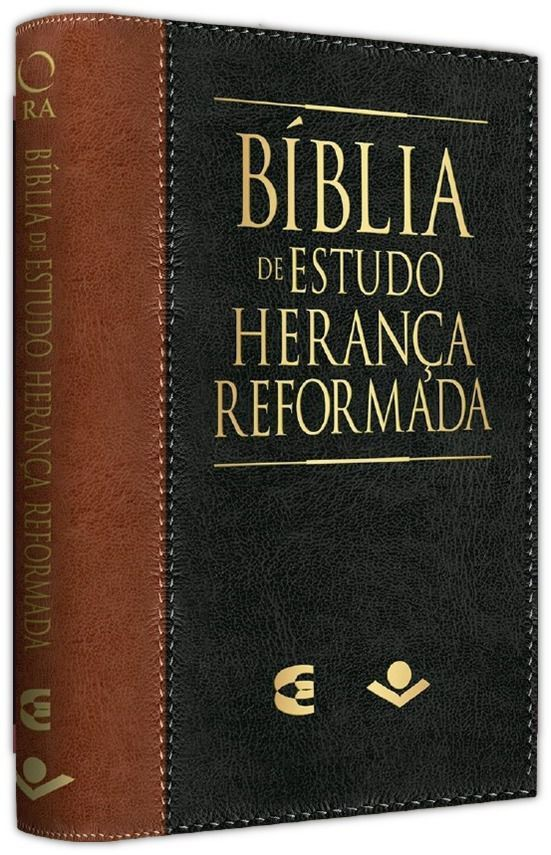 Bíblia de Estudo Herança Reformada capa couro sintético - Marrom