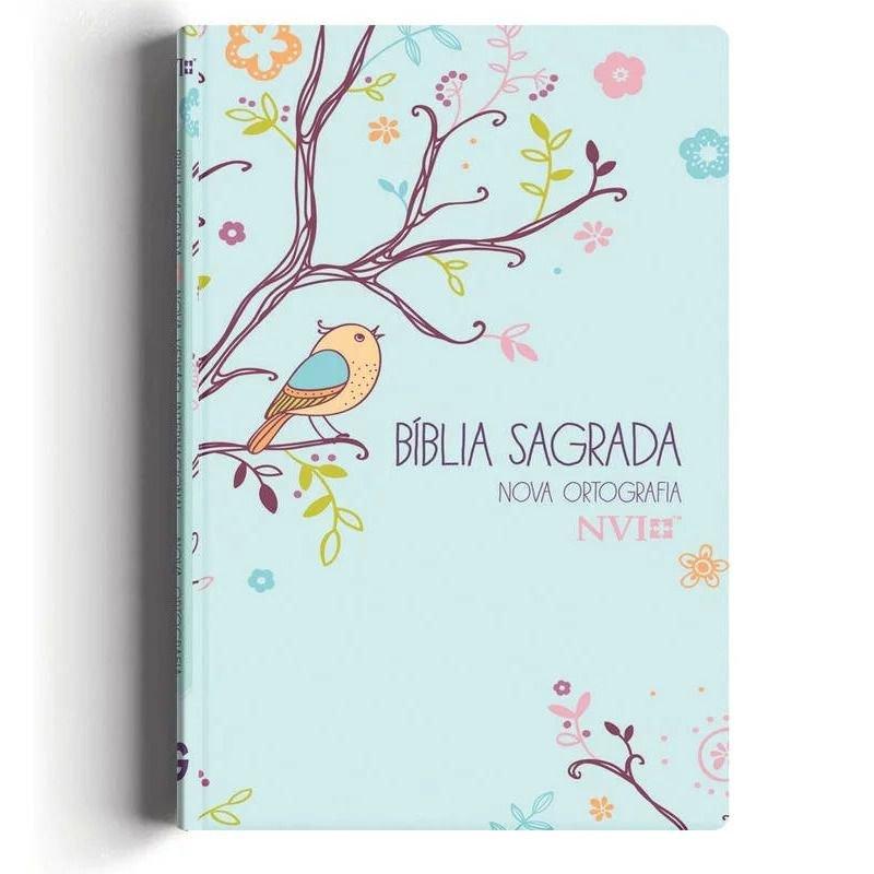 Bíblia NVI   Letra Gigante   Capa Passáros Com Relevo