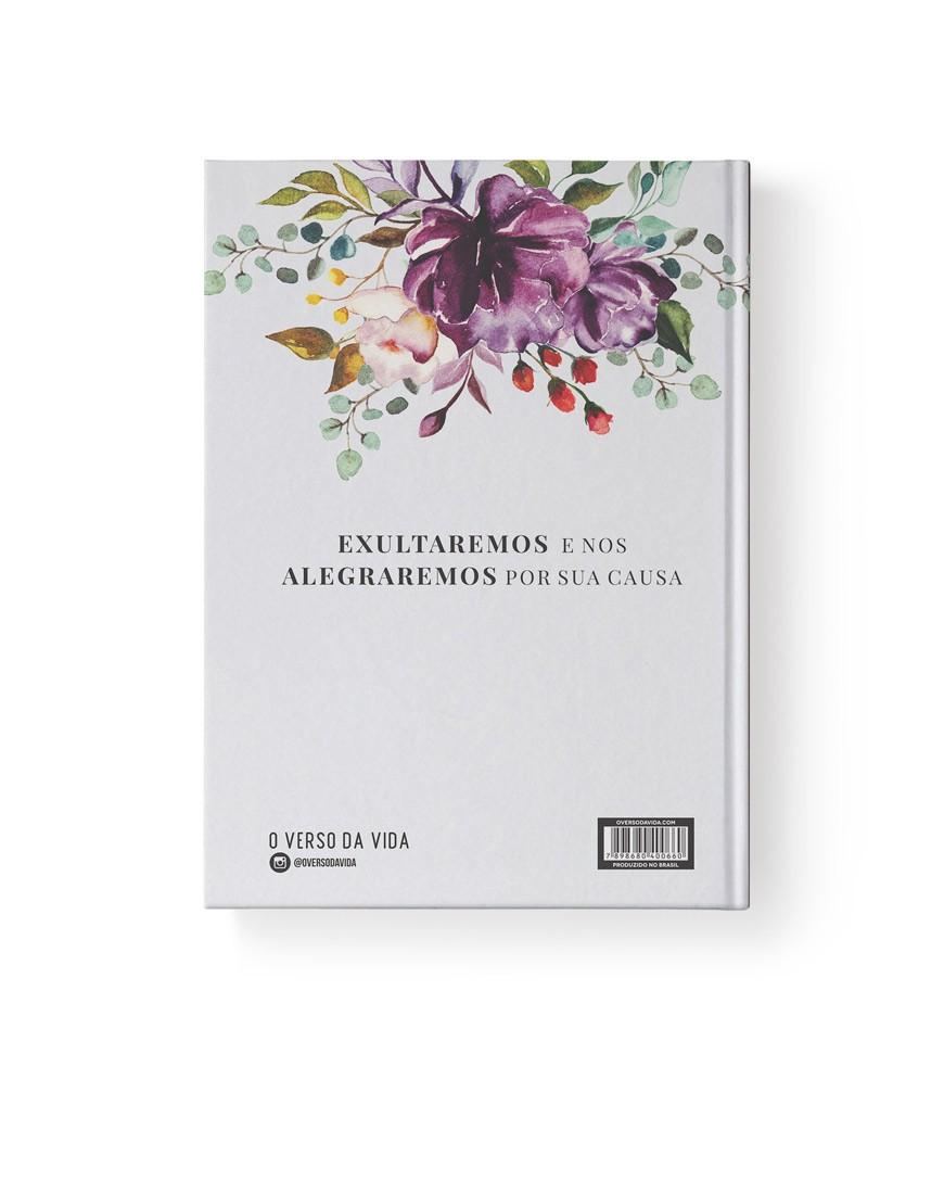 Bíblia Primavera Floral   NAA   Letra Grande   Capa Dura