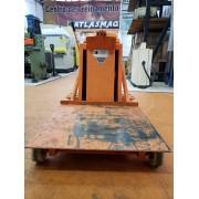 Carro Plataforma Hidraulico Manual, Capacidade 500Kg, Modelo PE500, Altura de elevação 1600mm, plataforma 800x800, marca Zeloso - (Usado)