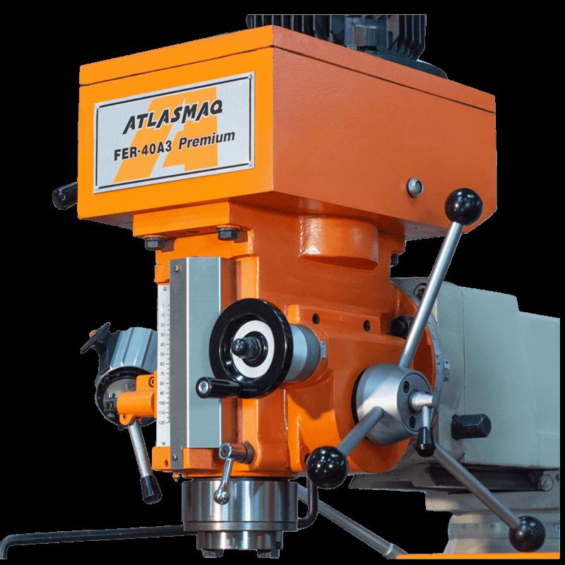 Fresadora Ferramenteira Engrenada Atlasmaq FER-40A3 Premium - Produto Novo  - Atlasmaq