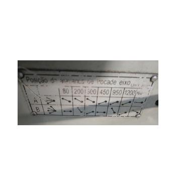 Furadeira Radial Atlasmaq, Modelo FRA3040Qx120, 6 velocidades 80 a 1200rpm, Diâmetro de Furação 30/40mm, comprimento da Bandeira 1200mm, Mesa principal 1100mm x 600mm, Mesa Intermediária 450x500x400,   - Atlasmaq