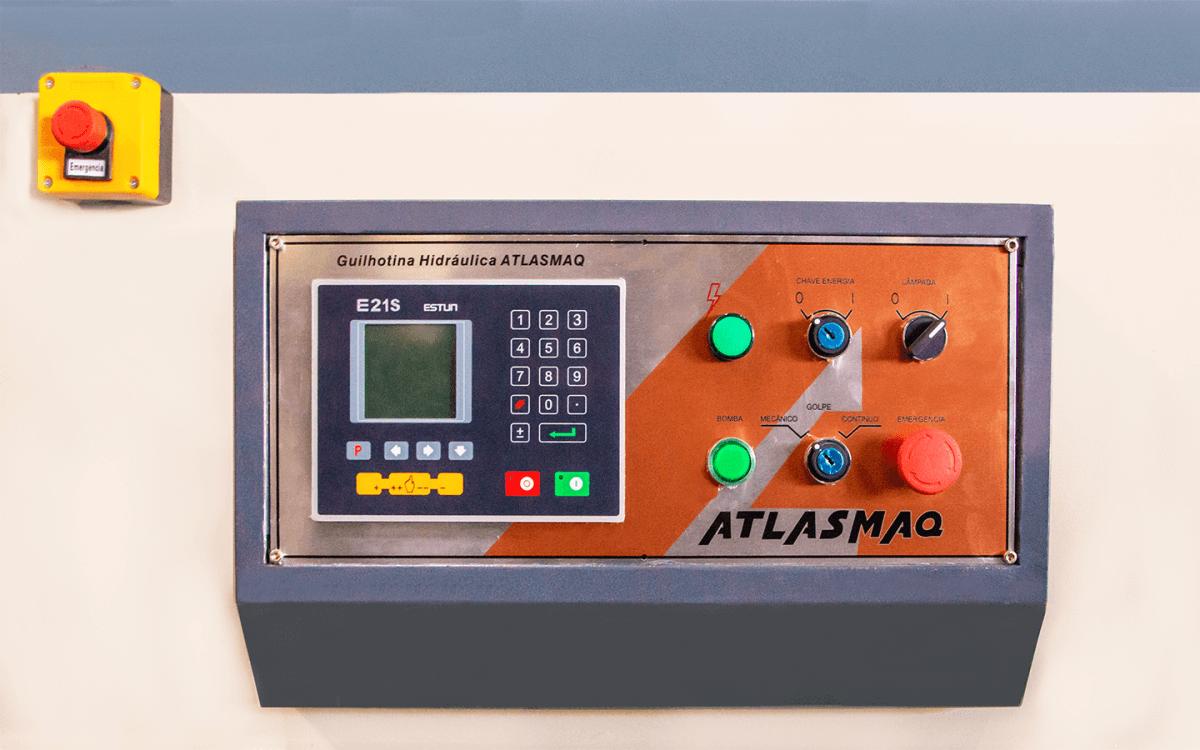 Guilhotina Hidráulica Atlasmaq GHA 6,4x2500  - Produto Novo  - Atlasmaq
