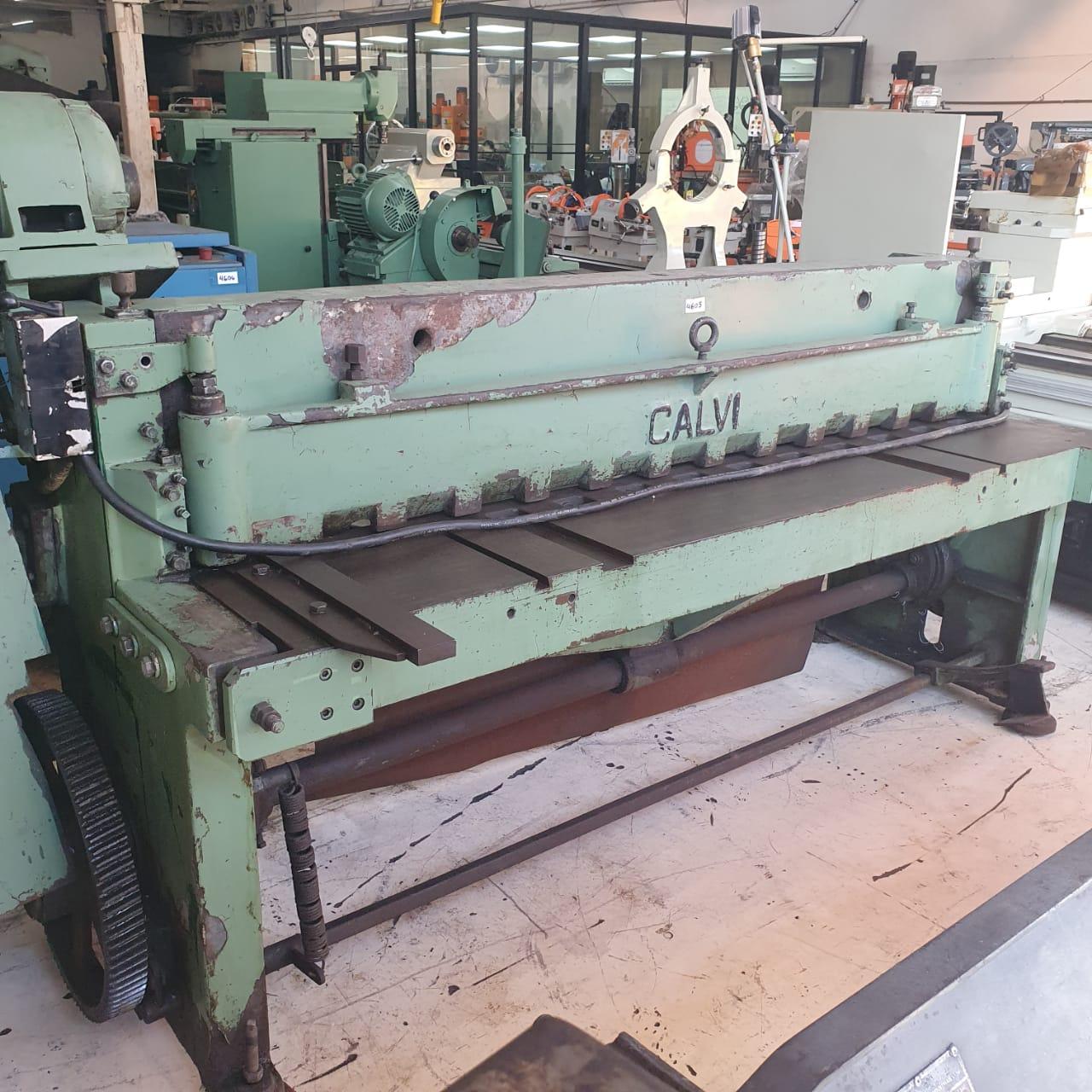 Guilhotina Mecanica, Marca Calvi, Modelo TR-2050, Capacidade 1/8 x 2000, Com Batente Trazeiro - 220V - Usada  - Atlasmaq