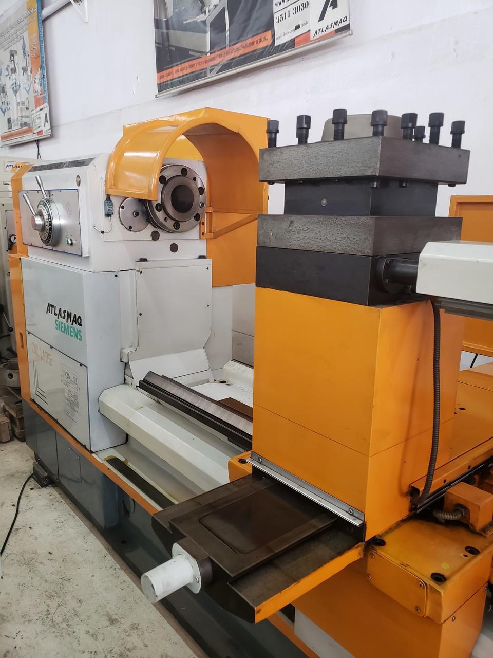 Torno Cnc Pesado Atlasmaq Tcga-Ck62145 X 2000mm - Maquina Nova uso de Show Room  - Atlasmaq