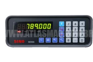 Visualizador Digital SDS3 1 EIXO - Produto Novo  - Atlasmaq