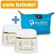 Kit 2 Potes Creme Risotex  + BRINDE   Necessaire Puriflora