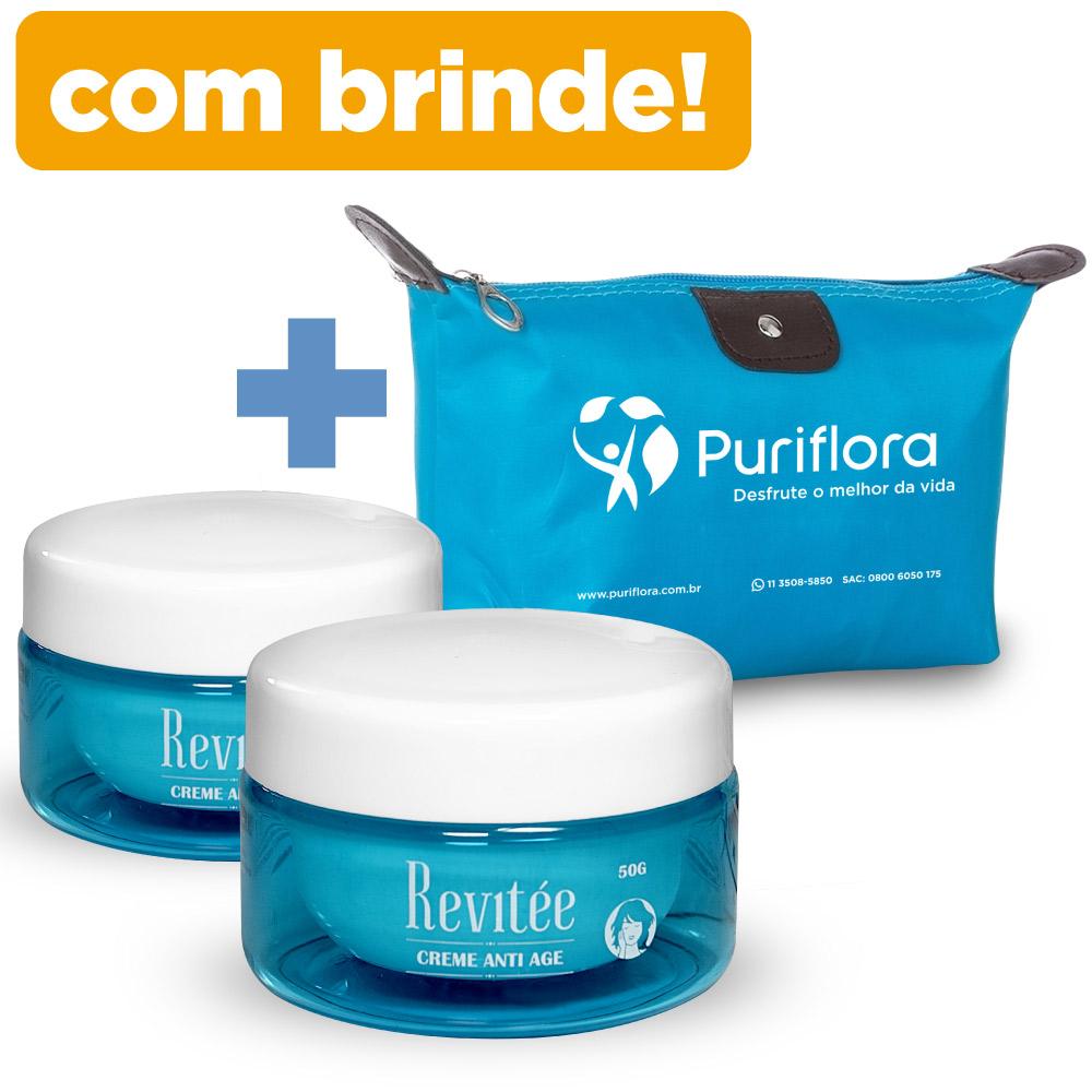 Kit 2 Potes Creme Revitée  + BRINDE |Necessaire Puriflora