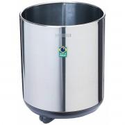 Cachepô Tramontina Belt Color em Aço Inox com Acabamento Scotch Brite e Rodízio 20 kg  Tramontina 94540707