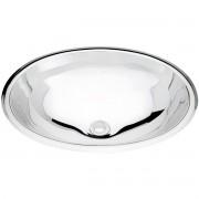 Lavabo de sobrepor Tramontina Oval em Aço Inox Alto Brilho 40x31 cm  Tramontina 94115207