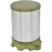 Lixeira Inox Tramontina Sofie com Corpo em Inox com Acabamento Scotch Brite e Detalhes em Plástico Translúcido Verde com Pedal 5 L  Tramontina 94538802