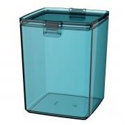 Pote Hermético 1,5L Azul Turquesa Transparente