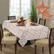Toalha de mesa Gardenia Natal quadrada 4 lugares Rose Gold - 036507
