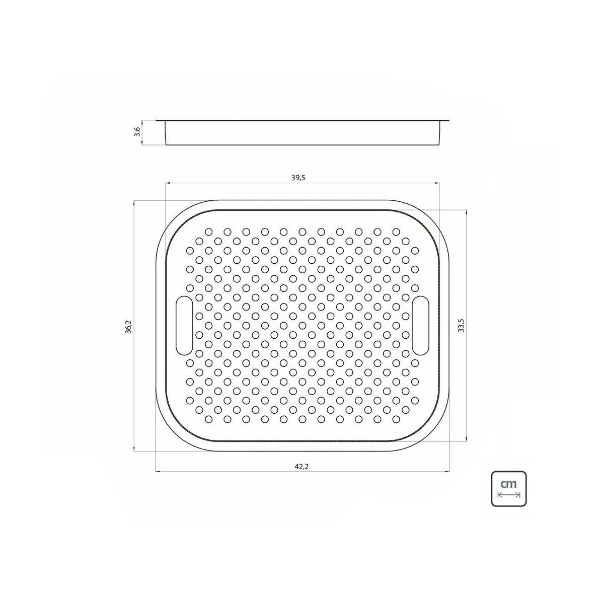 Bandeja Perfurada Tramontina em Aço Inox para Pias e Cubas 42 x 36 cm  Tramontina 94532014