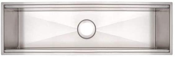 Calha Úmida para Sobrepor Tramontina  Aço Inox com Acabamento Scotch Brite 60x18 cm  Tramontina 94534001