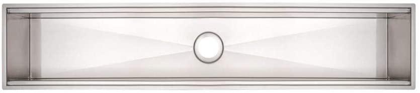 Calha Úmida para Sobrepor Tramontina  Aço Inox com Acabamento Scotch Brite 90x18 cm  Tramontina 94534002