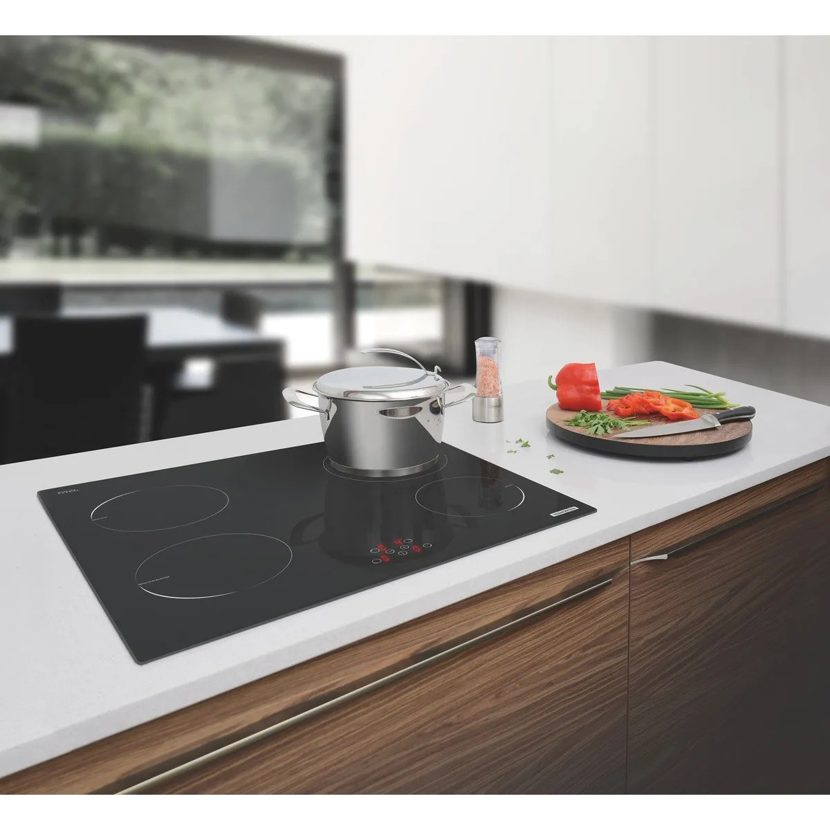 Cooktop por Indução Tramontina New Square Vitrocerâmico com 4 Áreas de Aquecimento e Comando Touch  Tramontina 94751220
