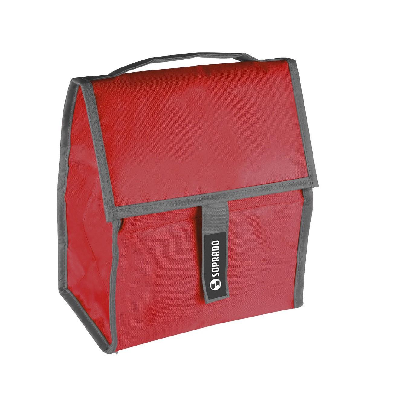 Cooler Bolsa Térmica Dobrável 5 Litros Com Gel Vermelho