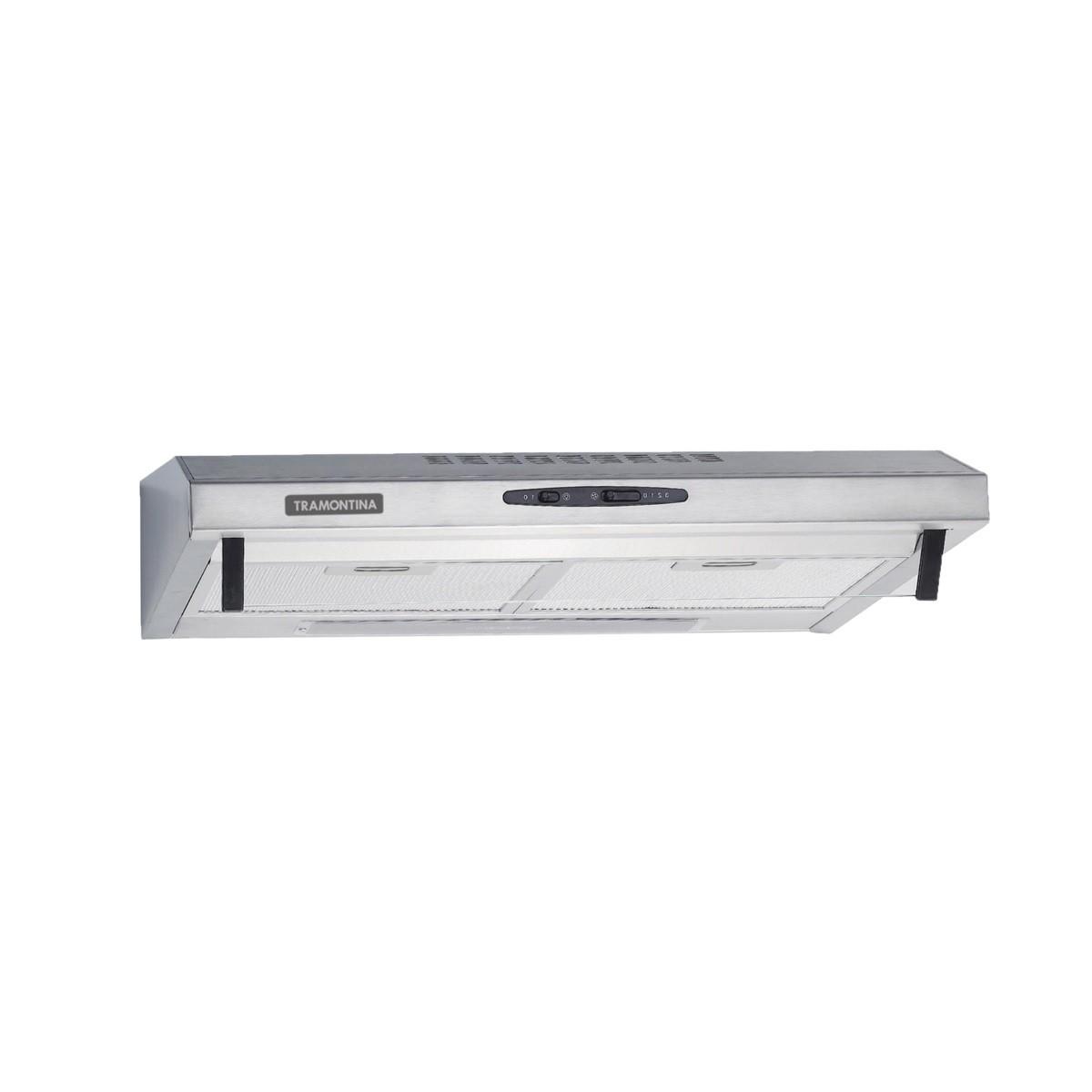 Depurador de Parede Tramontina Compact em Aço Inox e Vidro Temperado 60 cm 220 V  Tramontina 94810220
