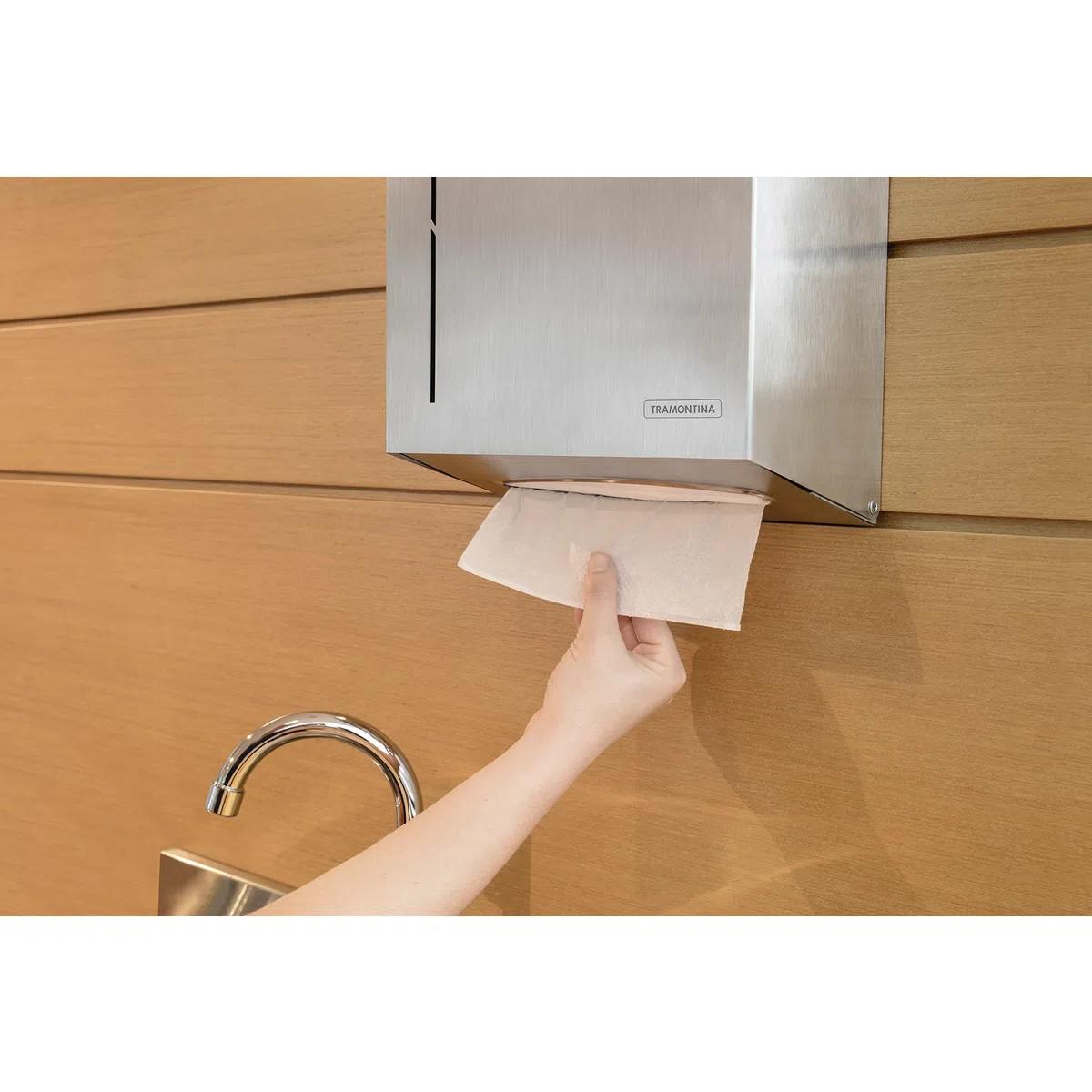 Dispenser para Papel Toalha Tramontina em Aço Inox com Acabamento Scotch Brite  Tramontina 94532031