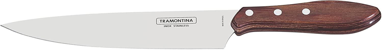 """Faca Tramontina para Carne 8"""" em Aço Inox e Cabo Vermelho Polywood  Tramontina 21189178"""