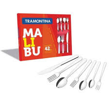 Faqueiro Tramontina Malibu em Aço Inox 42 Peças  Tramontina 23799039