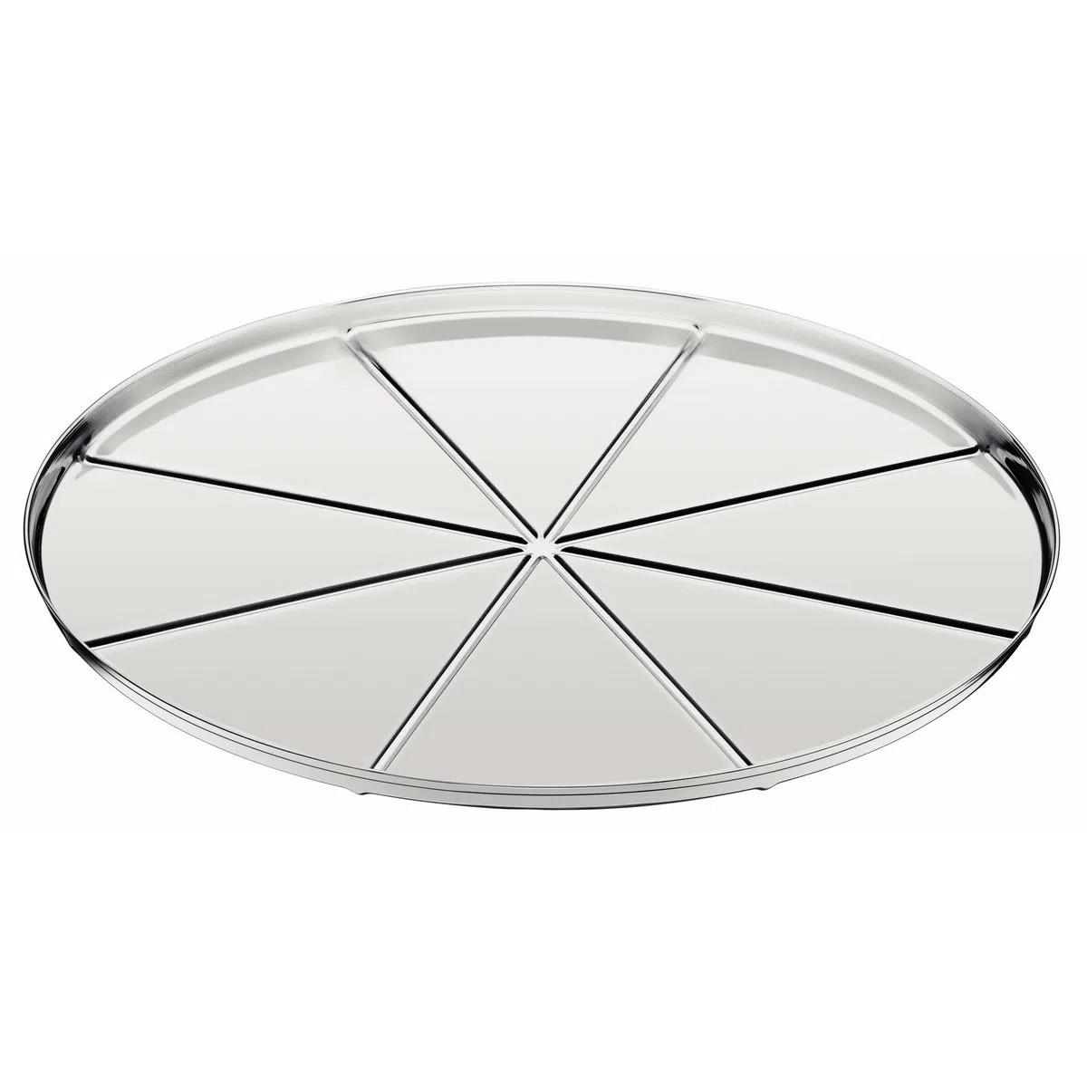 Forma para Pizza Tramontina em Aço Inox com Vincos 30 cm  Tramontina 61744300