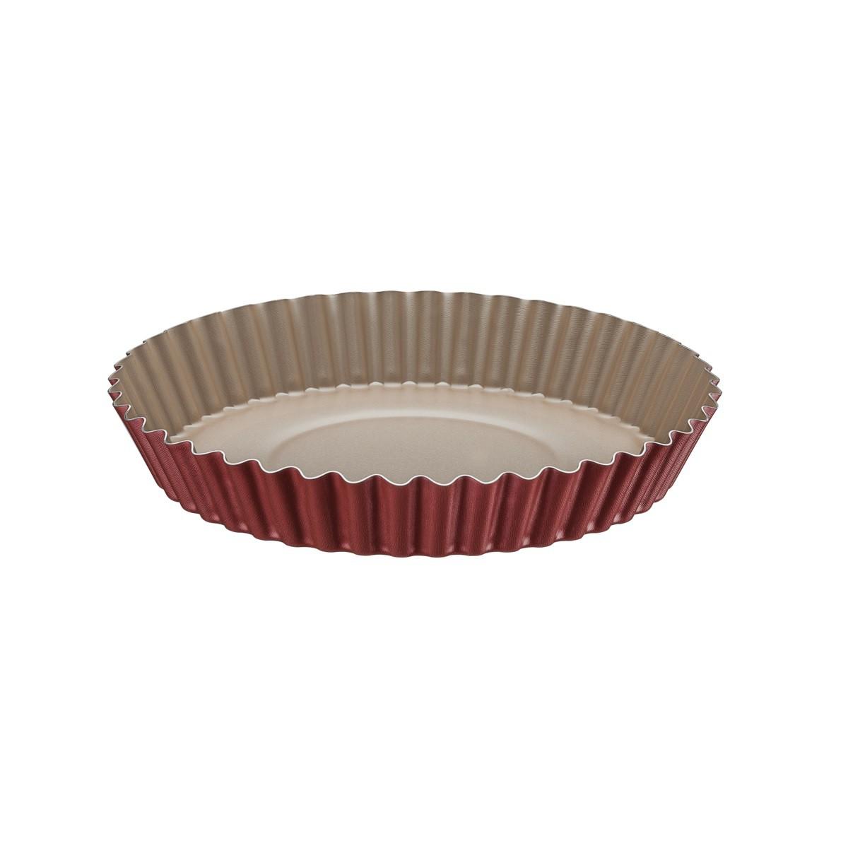 Forma Redonda para Torta e Bolo Tramontina Brasil em Alumínio com Revestimento Interno e Externo Antiaderente Starflon T1 Vermelho 26 cm 1,8 L  Tramontina 20056726